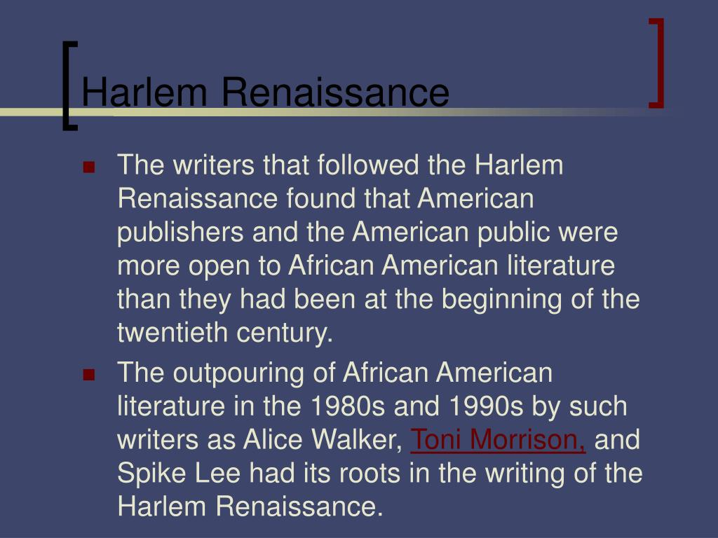 renaissance in harlem city in the viewpoint of toni morrisons jazz essay