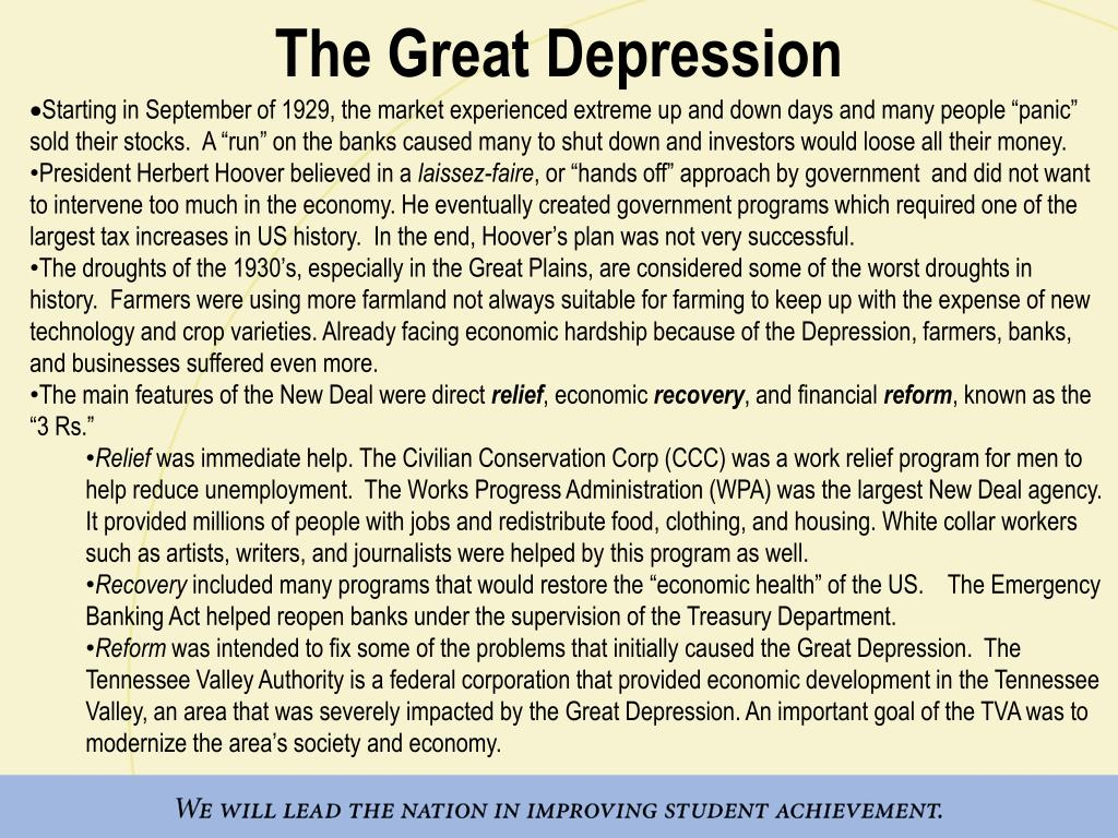 economic recovery post depression the new deal A major economic recovery artists were employed to create murals in public post which provided a social safety net beneath fdr's new deal economy the new.
