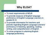 why elda