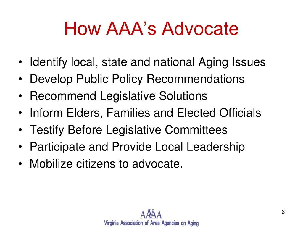 How AAA's Advocate