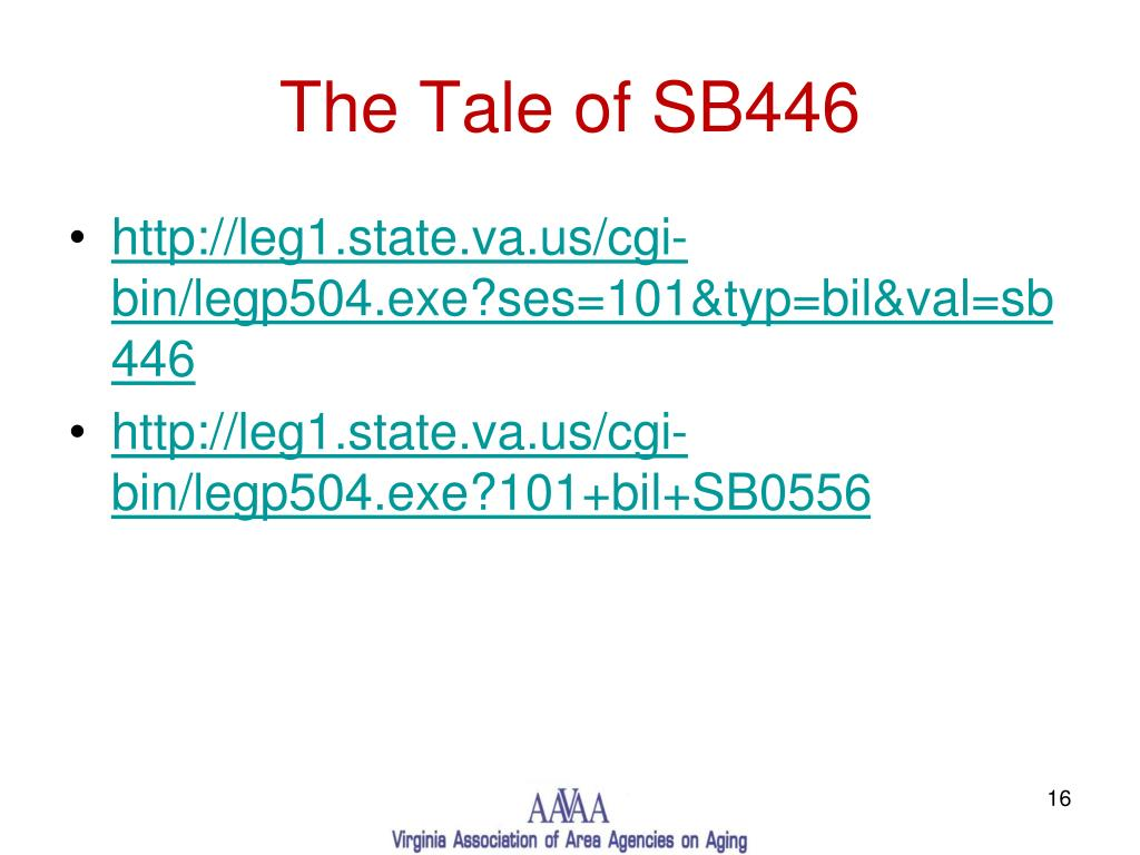 The Tale of SB446