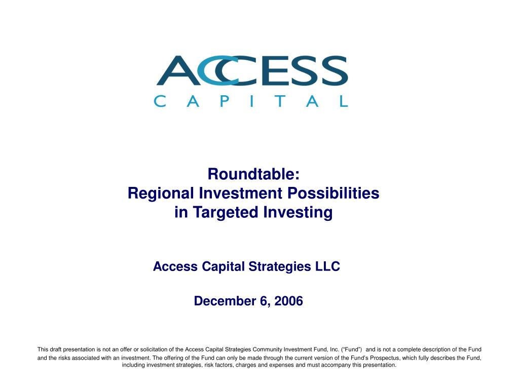 roundtable regional investment possibilities in targeted investing l.