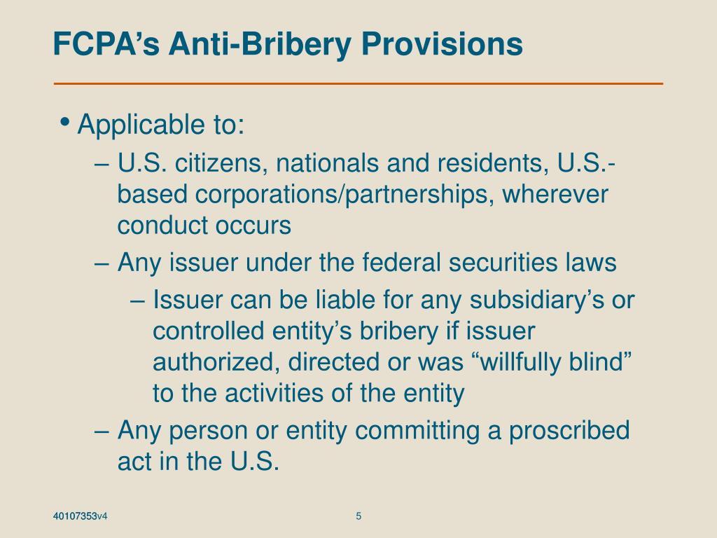FCPA's Anti-Bribery Provisions