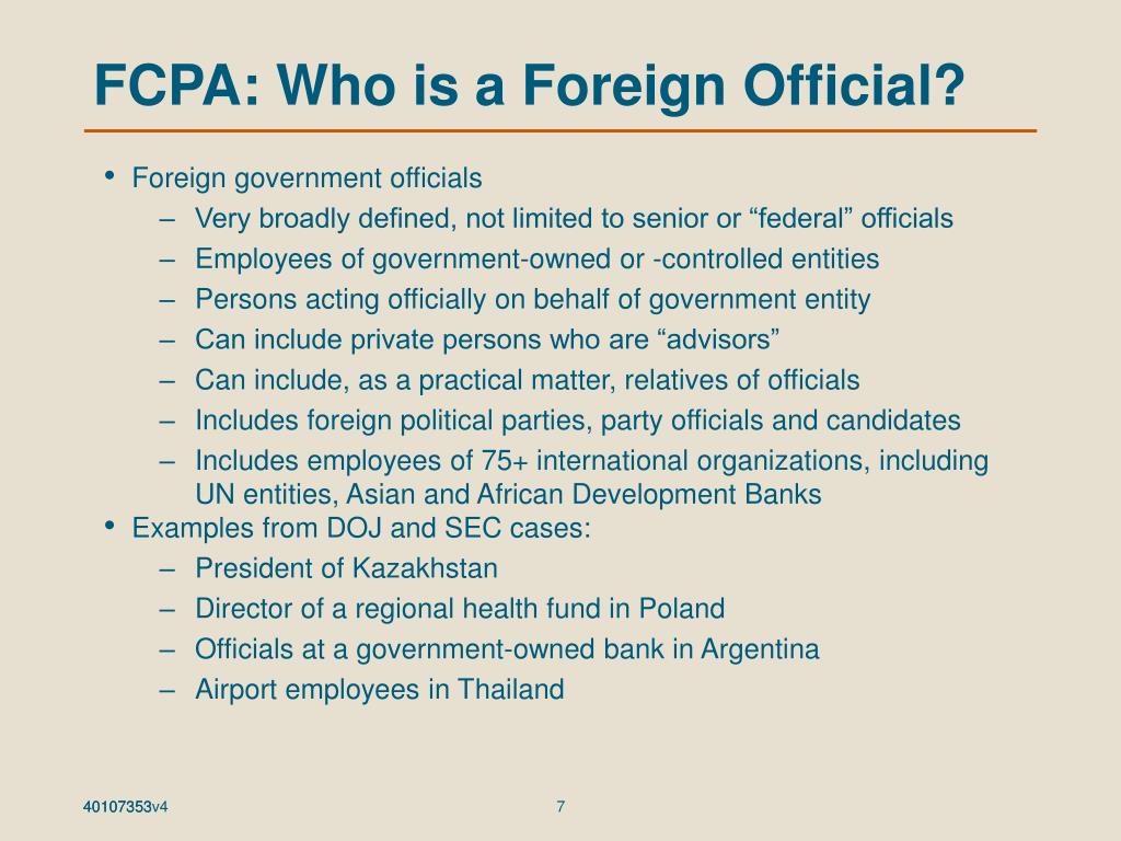 FCPA: Who is a Foreign Official?
