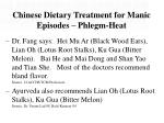 chinese dietary treatment for manic episodes phlegm heat