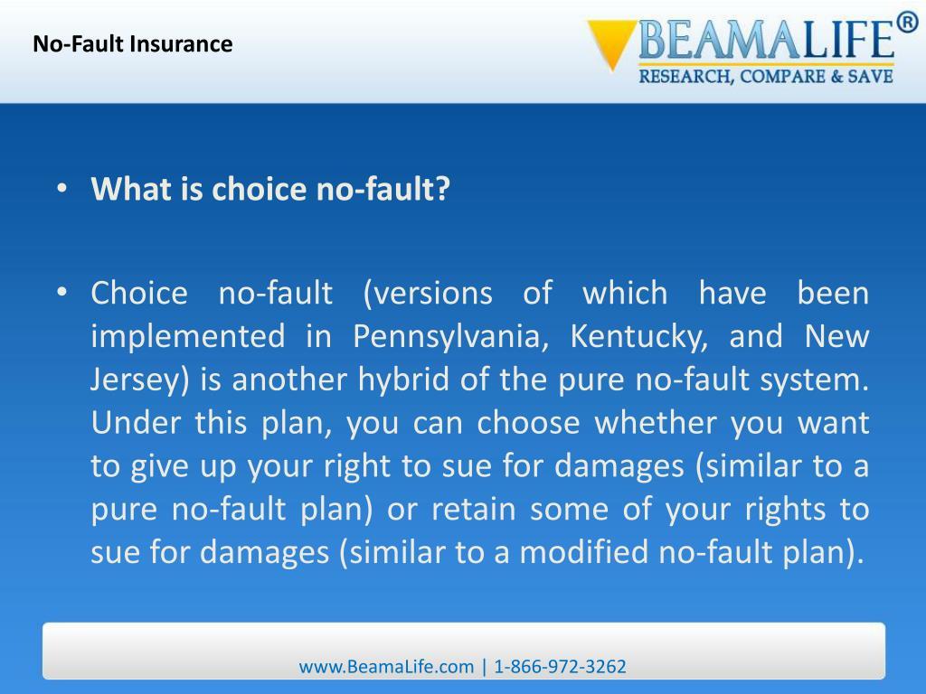 No-Fault Insurance