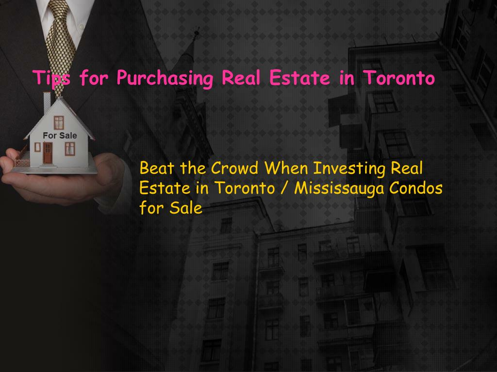 tips for purchasing real estate in toronto l.