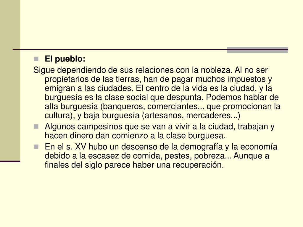 El pueblo: