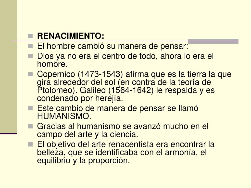 RENACIMIENTO: