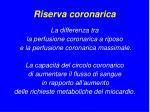 riserva coronarica