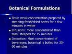 botanical formulations