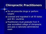 chiropractic practitioners