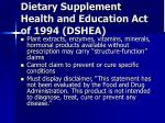 dietary supplement health and education act of 1994 dshea25