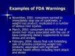 examples of fda warnings33