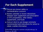 for each supplement68