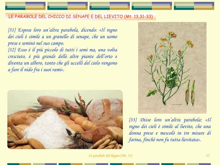 Risultati immagini per parabola del lievito