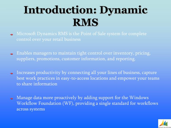 Introduction dynamic rms