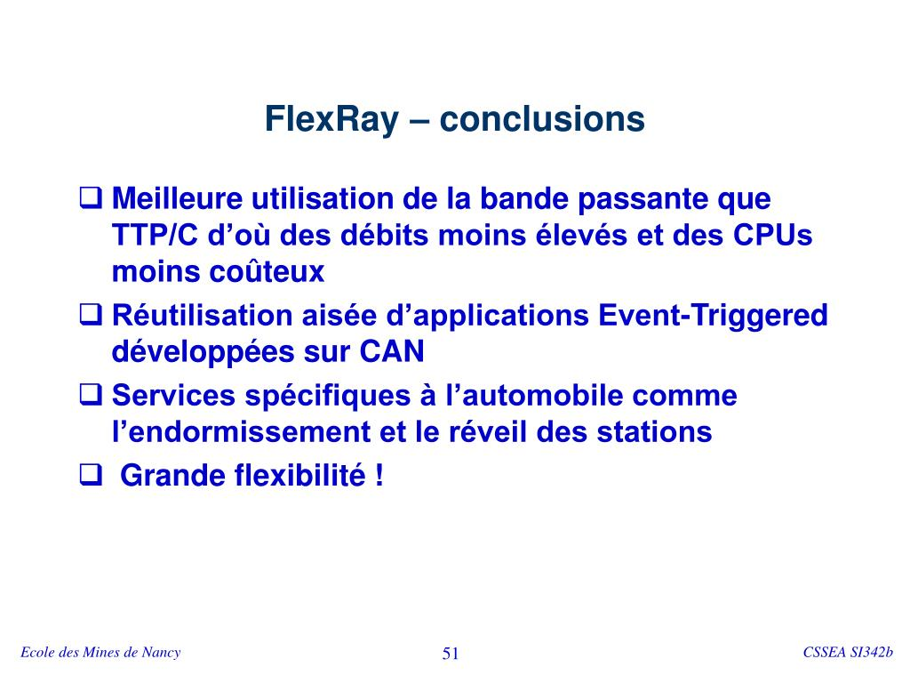 FlexRay – conclusions