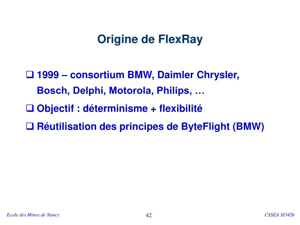 Origine de FlexRay