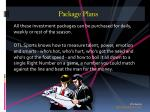 package plans