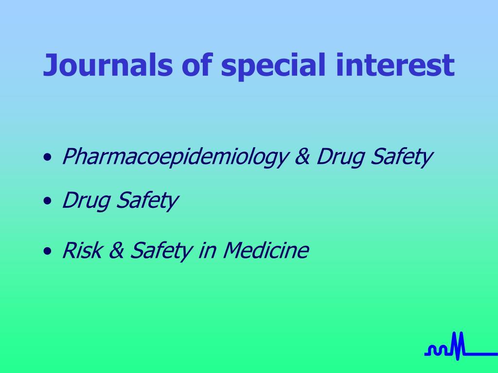 Journals of special interest
