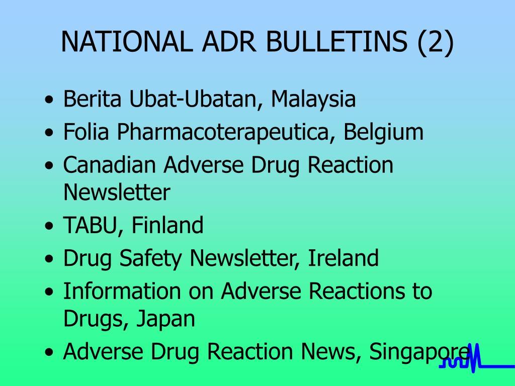 NATIONAL ADR BULLETINS (2)