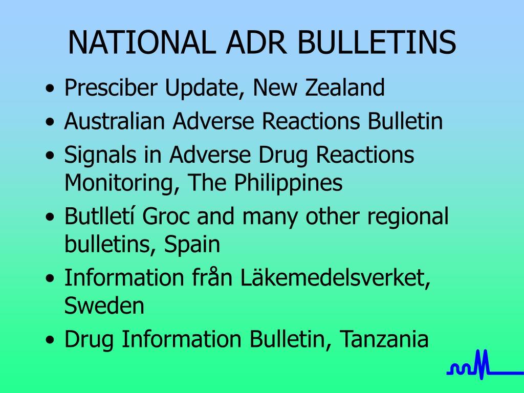 NATIONAL ADR BULLETINS