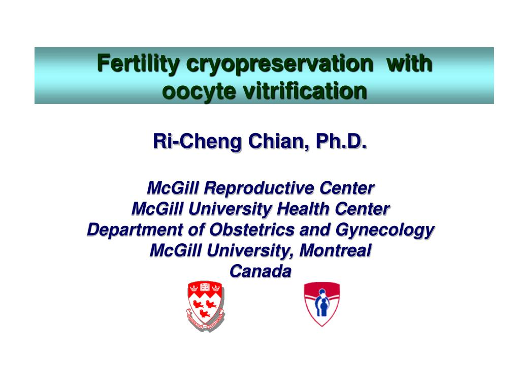 fertility cryopreservation with oocyte vitrification l.
