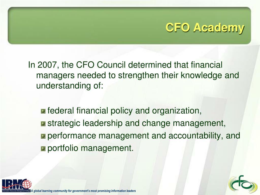 CFO Academy