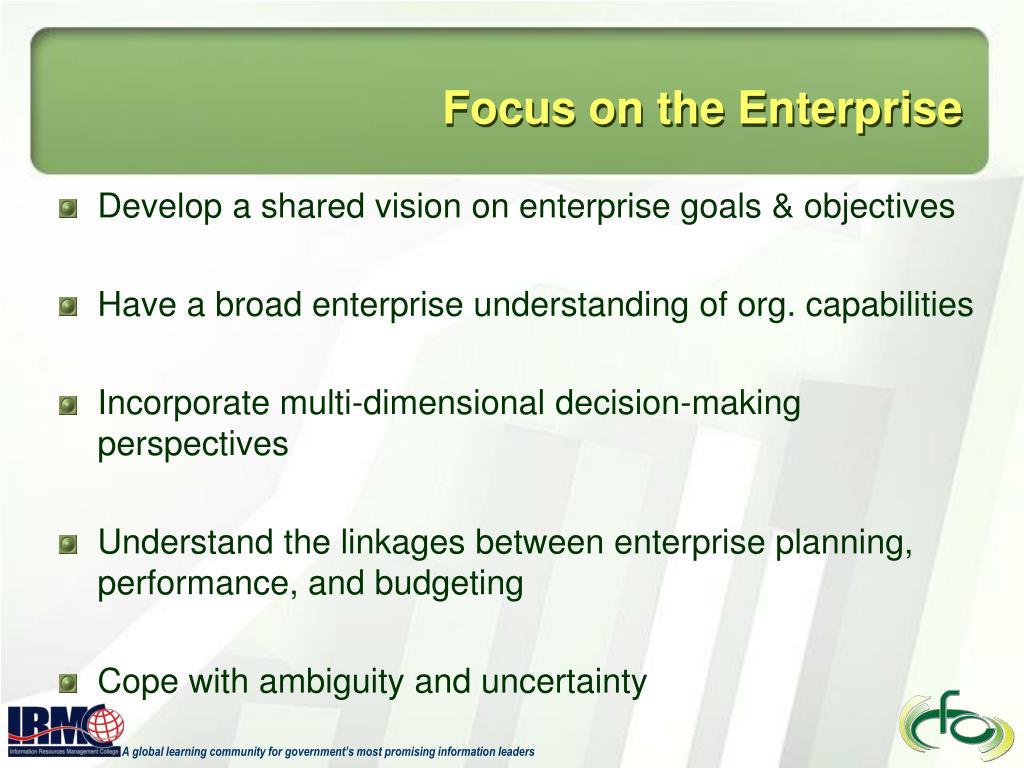Focus on the Enterprise