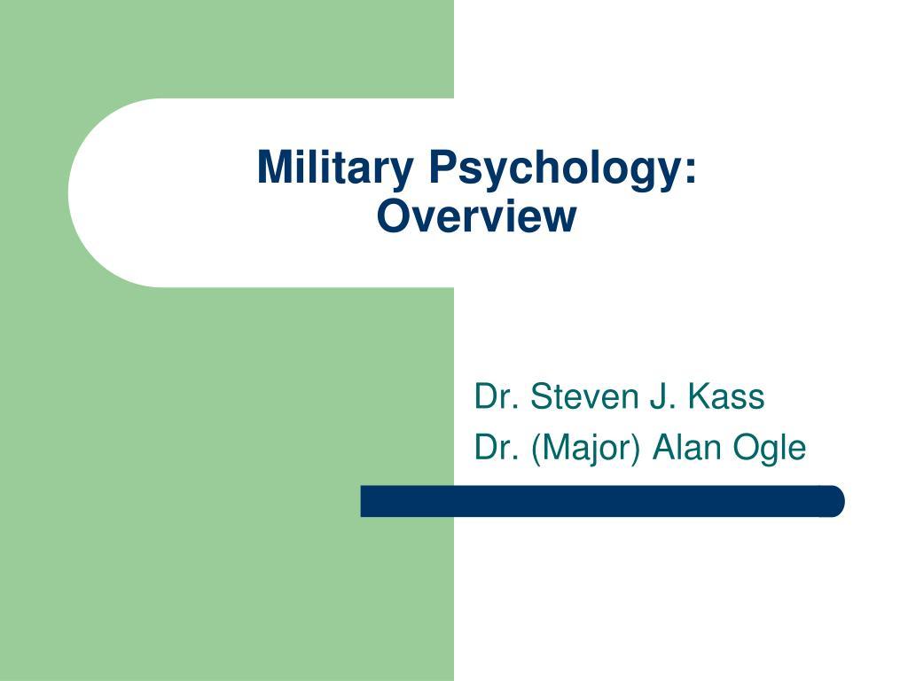 Military Psychology: