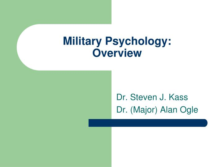 Military psychology overview