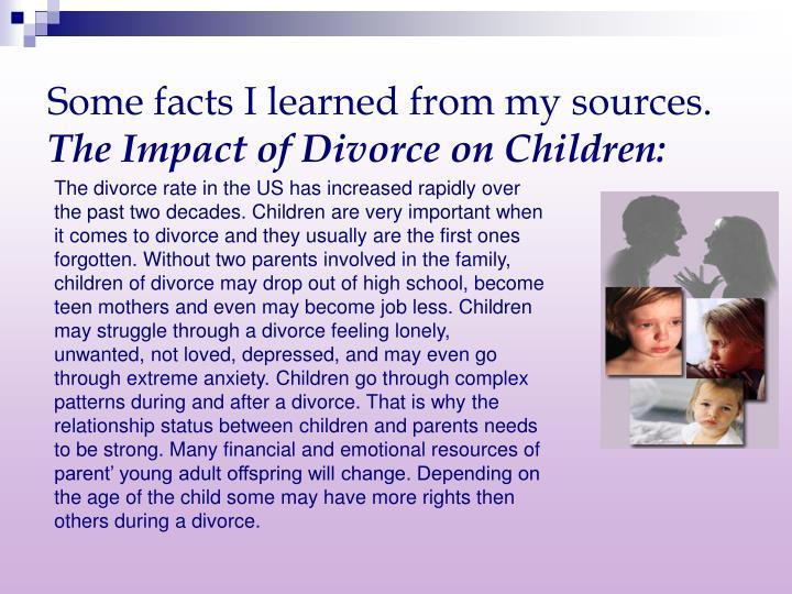 impact of divorce