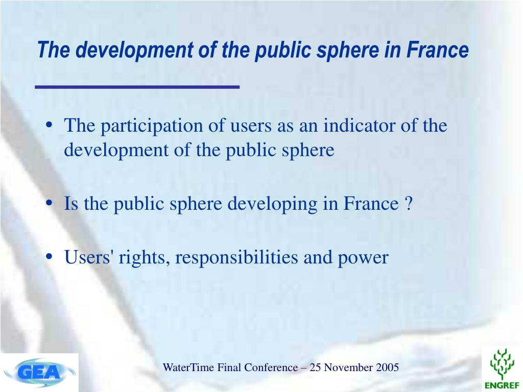 The development of the public sphere in France
