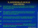 w somnifera in muscle sarcopenia