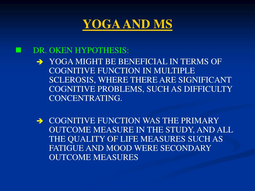 YOGA AND MS