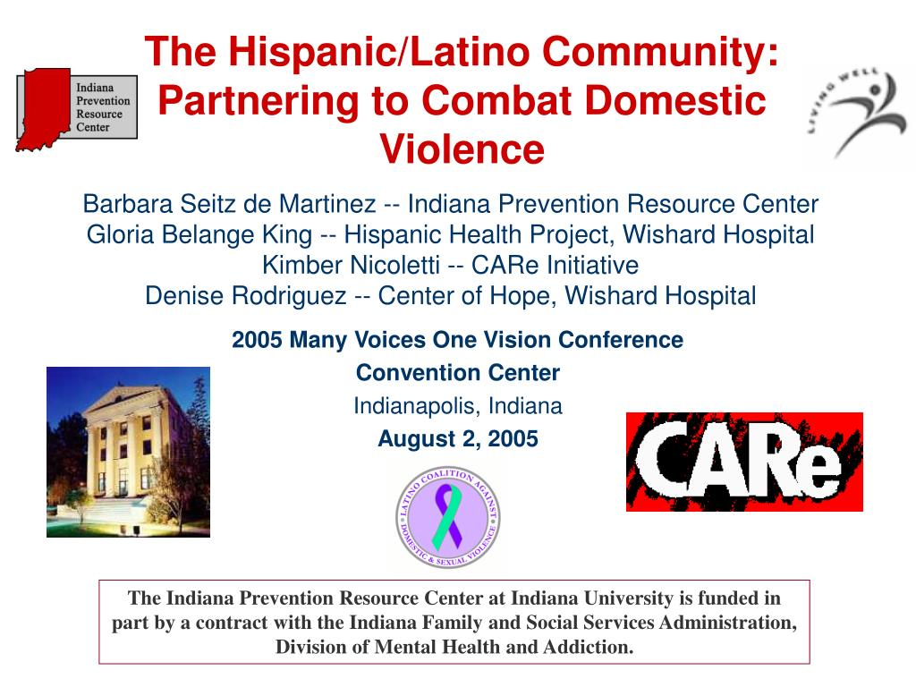 the hispanic latino community partnering to combat domestic violence l.