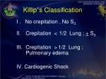killip s classification