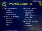 pharmacological rx