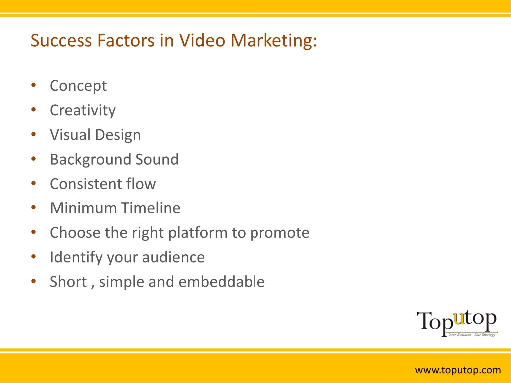 Success Factors in Video Marketing: