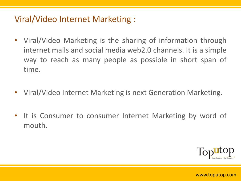 Viral/Video Internet Marketing :