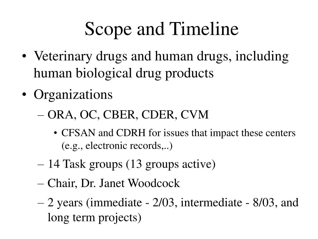 Scope and Timeline