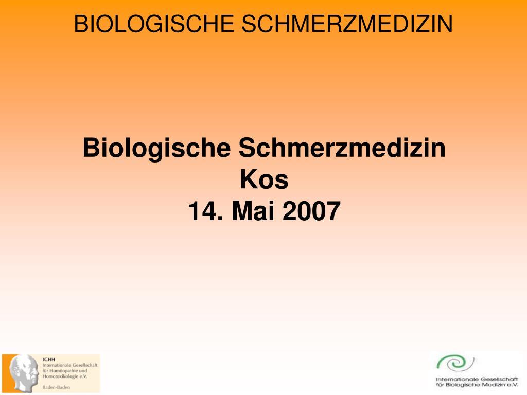 biologische schmerzmedizin kos 14 mai 2007 l.
