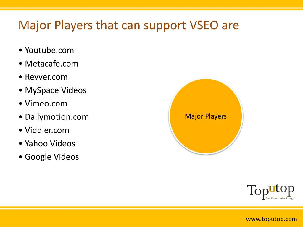 Major Players that can support VSEO are