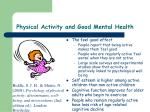 physical activity and good mental health