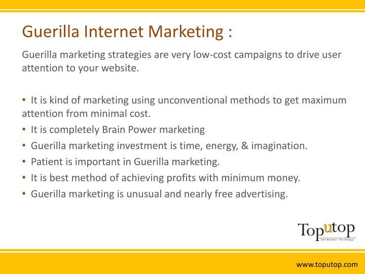 Guerilla internet marketing