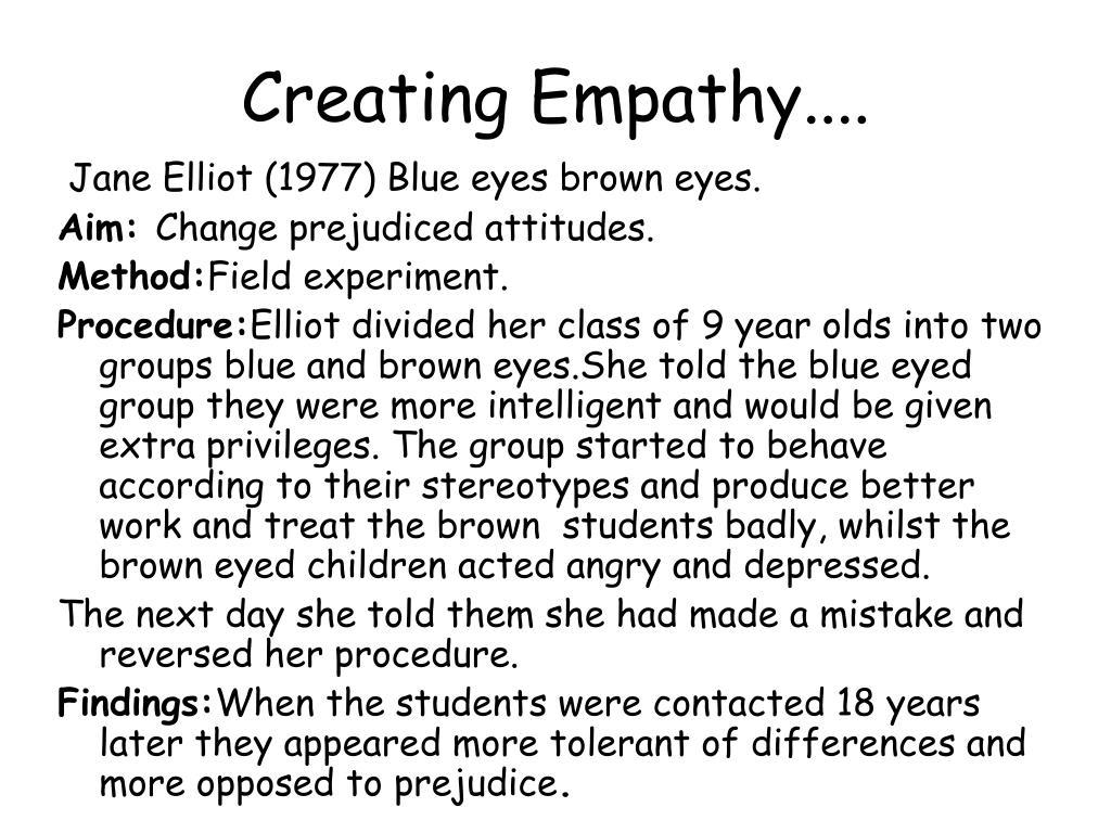 Creating Empathy....