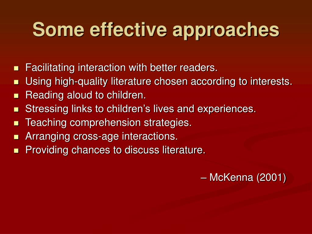 Some effective approaches