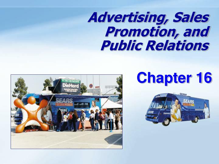 advertising sales promotion and public relations n.
