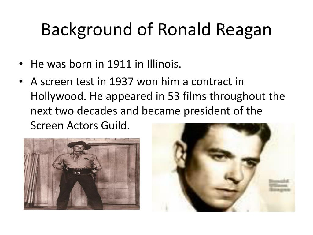 Background of Ronald Reagan